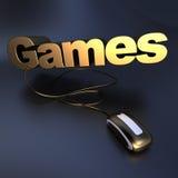 Gouden Spelen online Royalty-vrije Stock Foto