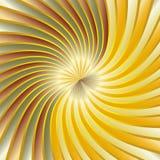 Gouden spiraalvormige draaikolk Royalty-vrije Stock Afbeeldingen