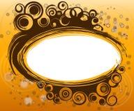 Gouden spiraalvormige grens stock illustratie