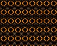 Gouden spiraalvormige textuur en achtergrond Stock Afbeeldingen