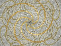 Gouden spiralen Royalty-vrije Stock Foto's