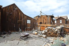 Gouden Spoedspookstad - Bodie California Stock Foto's
