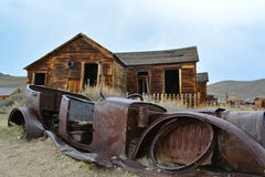 Gouden Spoedspookstad - Bodie California Royalty-vrije Stock Fotografie