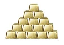 Gouden staaf Royalty-vrije Stock Foto