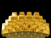 Gouden staaf. Royalty-vrije Stock Foto