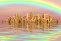 Gouden stad Royalty-vrije Stock Afbeeldingen