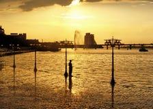 Gouden stad stock fotografie