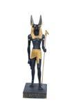Gouden standbeeld van Anubis stock afbeeldingen