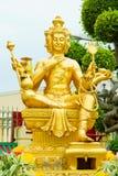 Gouden standbeeld van Brahma Royalty-vrije Stock Foto's