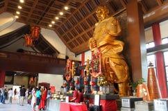 Gouden standbeeld van Che Kung Temple, Hong Kong Royalty-vrije Stock Foto's