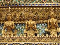 Gouden standbeelden Royalty-vrije Stock Afbeelding