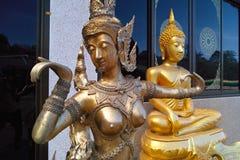 Gouden standbeelden Stock Foto