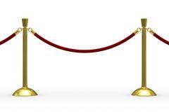 Gouden stangen op witte achtergrond royalty-vrije illustratie