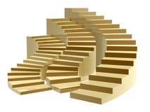 Gouden stappen aan succes stock foto