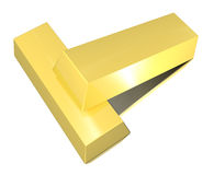 Gouden staven Stock Foto's