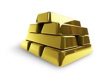 Gouden-staven Royalty-vrije Stock Afbeeldingen