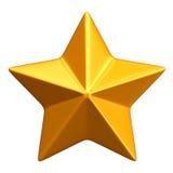 Gouden ster Royalty-vrije Stock Afbeelding