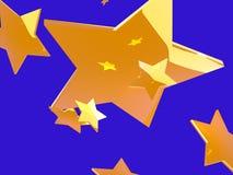 Gouden ster Royalty-vrije Stock Afbeeldingen