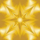 Gouden ster Flikkerende achtergrond Visueel Volumeeffect Veelhoekig Geometrisch Abstract Patroon Geschikt voor textiel, stof Royalty-vrije Stock Foto's