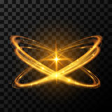 Gouden ster lichteffect Royalty-vrije Stock Fotografie