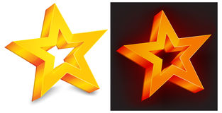 Gouden ster twee Royalty-vrije Stock Afbeeldingen