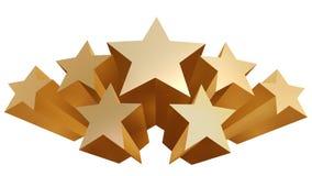 Gouden sterren royalty-vrije illustratie