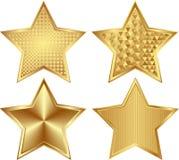 Gouden sterren Royalty-vrije Stock Foto's