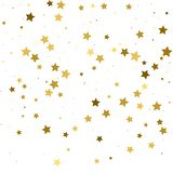 Gouden sterren Confettienviering, Dalend gouden abstract decorum Stock Afbeeldingen