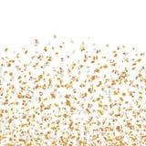 Gouden sterren die confettien vliegen Royalty-vrije Stock Foto