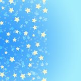 Gouden sterren op blauwe achtergrond stock illustratie