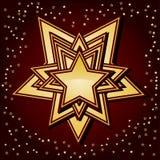 Gouden sterren op bruine achtergrond, Stock Afbeeldingen