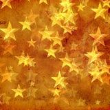 Gouden sterren over oud document Stock Afbeelding