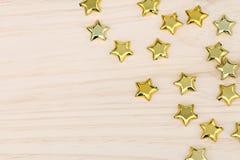 Gouden sterren van Kerstmis Stock Afbeeldingen