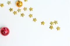 Gouden sterren van Kerstmis Royalty-vrije Stock Foto