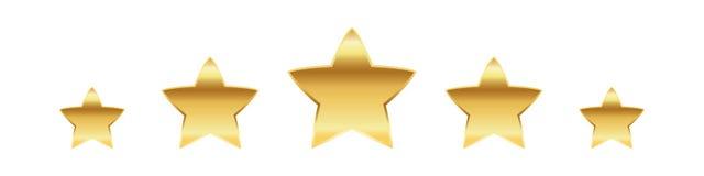 Gouden sterren Vector illustratie Royalty-vrije Stock Fotografie