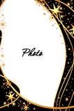 Gouden sterrenframe Stock Afbeeldingen