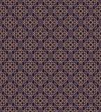 Gouden stijl van het art deco de geometrische naadloze patroon op cyaanachtergrond voor huwelijksuitnodiging Stock Afbeeldingen