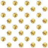 Gouden stip Vector illustratie Stock Foto's