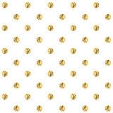 Gouden stip Vector illustratie Stock Afbeelding