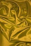 Gouden Stof 2 van het Satijn/van de Zijde Royalty-vrije Stock Foto