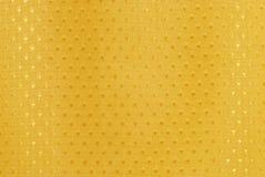 Gouden stof met diamantvormen Stock Foto's