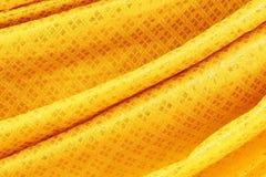 Gouden stoffenzijde Stock Afbeeldingen
