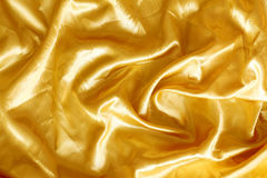 Gouden stoffenzijde Royalty-vrije Stock Foto's