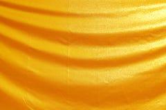Gouden stoffenzijde Royalty-vrije Stock Fotografie