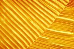 Gouden stoffenzijde Stock Afbeelding