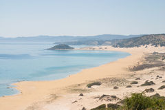 Gouden strand of Schildpadstrand in Karpasia, Eiland Cyprus Stock Foto