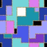 Gouden strepen naadloos patroon Vector illustratie stock illustratie