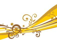 Gouden stroken Royalty-vrije Stock Fotografie