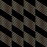 Gouden strook op zwarte Stock Foto