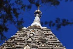 Gouden stupa bij de pagode in Bagan, Myanmar stock foto's